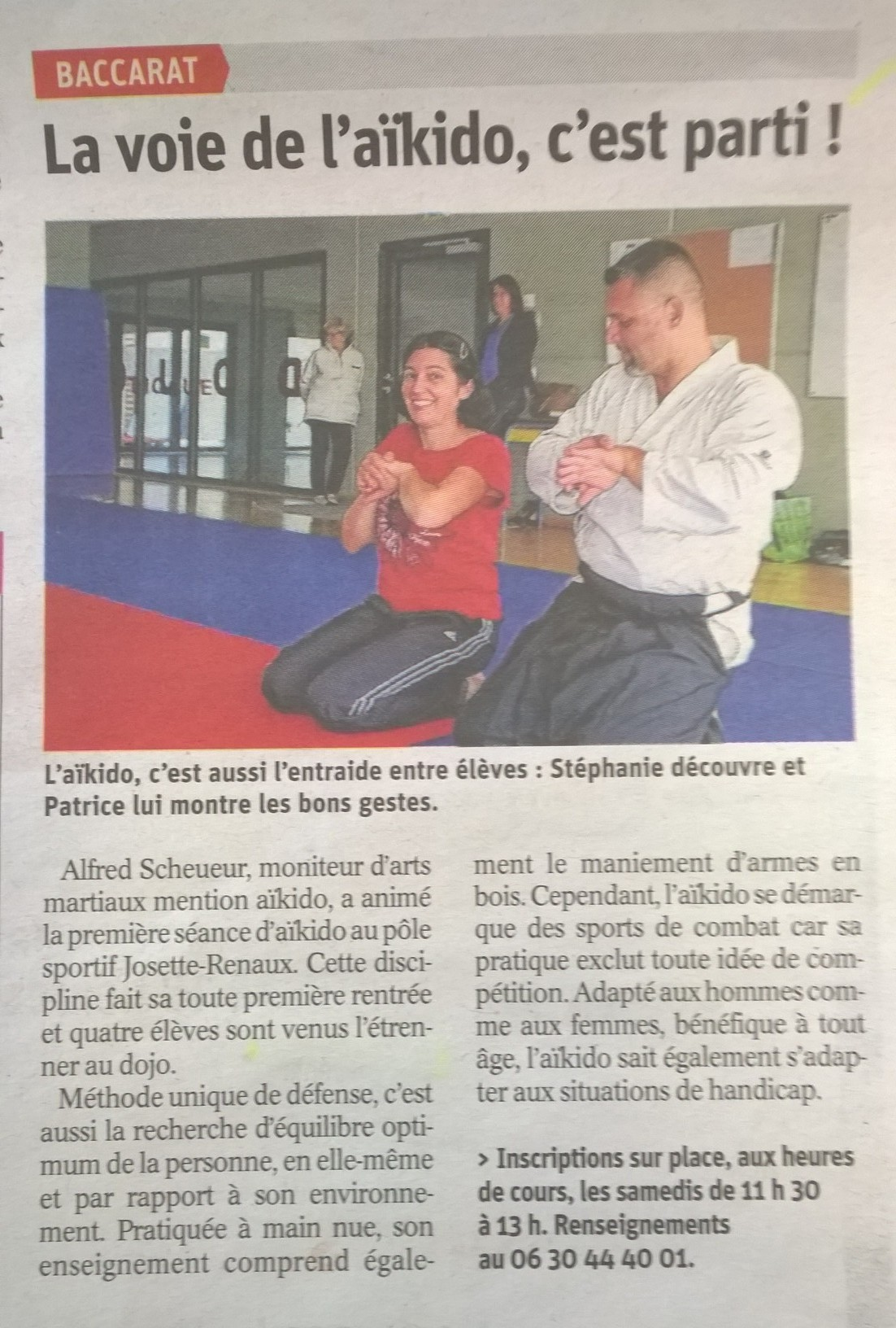 1er cours aikido baccarat 020917